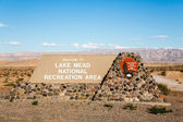 Lake Mead sign — Stock Photo