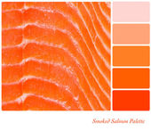Smoked Salmon Palette — Stock Photo