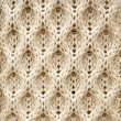 Knitted Aran wool background — Stok fotoğraf