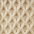 Knitted Aran wool background — Stockfoto