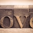 Stock Photo: Love in printing blocks