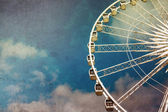 Ferris wheel retro — Stock Photo