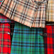 Tartan kilts detail — Stock Photo