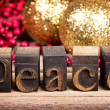 Peace message — Stock Photo