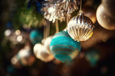 Oldfashioned Christmas decorations — Stock Photo