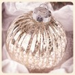Antique Christmas bauble instant photo — Stock Photo