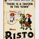 Retro tin advertisement — Stock Photo