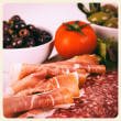 Antipasti old photo — Stock Photo