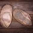 Baby ballet shoes — Stock Photo