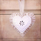 Vintage hearts with texture — Foto de Stock