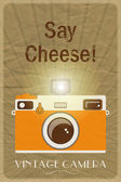 Say Cheese poster — Stock Vector