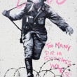 Soldier Graffiti Berlin — Stock Photo