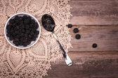 Blackberries in bowl — Stock Photo