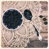 Blackberries instant photo — Stock Photo