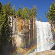 Vernal falls rainbow — Stock Photo