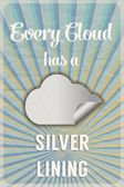 Cloud silver lining poster — Stock Vector