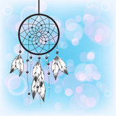 Beautiful dreamcatcher — Stock Vector