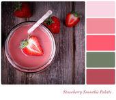 Strawberry smoothie palette — Stock Photo