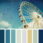 Ferris wheel palette — Stock Photo