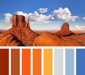 Monument Valley palette — Stock Photo