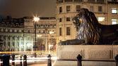 Trafalgar square at night — Stock Photo