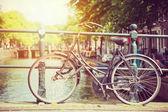 Bicycle on bridge — Foto de Stock