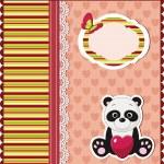 Panda card — Stock Vector #11488521