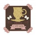 Coffee badge — Stock Vector
