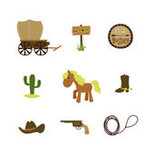 Cowboy set — Stock Vector