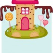 Stock Vector: Candy house