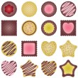 Stock Vector: Cookies set