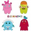 Kids monsters — Stock Vector