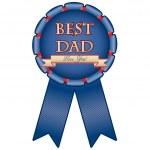 "Blue medal ""Best dad"" — Stock Vector #13251870"