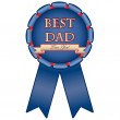 Blue medal &amp;quot;Best dad&amp;quot; - Imagen vectorial