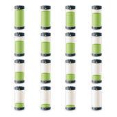 15 batteries — Stock Vector