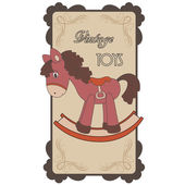 Vintage label for toys — Stock Vector