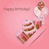 Różowy urodziny — Wektor stockowy