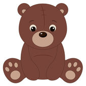 Brown teddy bear — Stock Vector