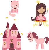 Elementos de design princesa rosa — Vetorial Stock