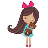 Küçük şirin kız — Stok Vektör