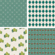 Retro Christmas design wallpaper pattern. — Stok Vektör