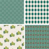 Retro Christmas design wallpaper pattern. — Stock Vector