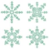 набор рисованной снежинка — Cтоковый вектор