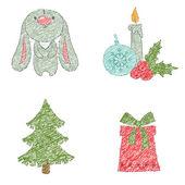 Christmas clip art design — Stock Vector