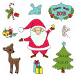 Christmas cartoon clip-art collection — Stock Vector