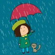 Royalty-Free Stock Vector Image: Rainy day