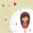 Romantic card with little girl - 