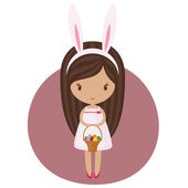 Easter girl — Stock Vector