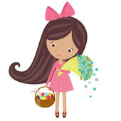 Easter girl — Stock Vector