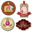Easter tags design. Eps 10 — Stock Vector
